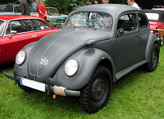 Volkswagen Kübelwagen - Type 82E—Kübelwagen chassis / Beetle body.
