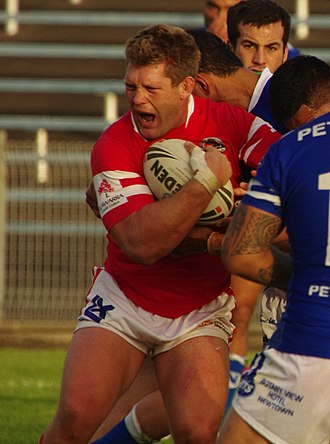 Michael Henderson (rugby league) - Henderson playing for the Dragons in 2013