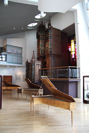 Gray and Davison - 19th-century pipe organ, presumably built by John Gray, in the Berlin Musical Instrument Museum