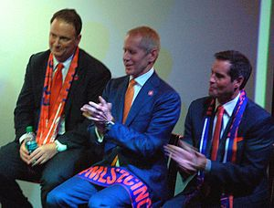 FC Cincinnati - Jeff Berding, Carl Lindner III, and John Harkes in 2016
