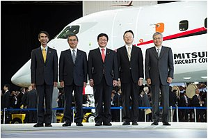Mitsubishi Regional Jet - 18 October 2014 rollout ceremony