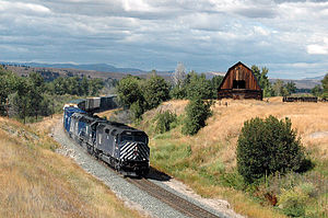 EMD F45 - A Montana Rail Link F45 leads a freight in 2005.