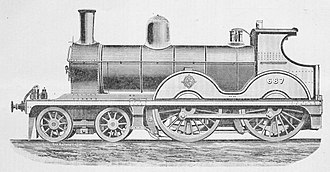 GCR Class 2 - Engraving of the No. 687 – the last Gorton-built example