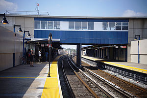 Broad Channel (IND Rockaway Line) - Broad Channel station after the post-Hurricane Sandy renovation