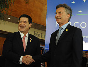 Argentina–Paraguay relations - Macri and Cartés, presidents of Argentina and Paraguay.