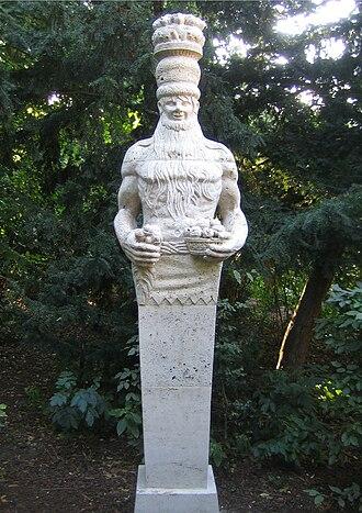 Rübezahl - The Rübezahl statue in Berlin's Märchenbrunnen Fountain.