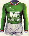 Maillot A.S Saint-Etienne champion de France 1976 avec liseré tricolore.jpg