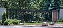 Main gate sign - Calvary Cemetery.jpg