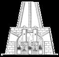Malbosc retort furnace used for sulphide of antimony smelting.png