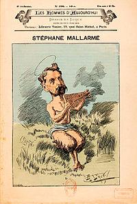 Stéphane Mallarmé as a faun, cover of the literary magazine Les hommes d'aujourd'hui, 1887.