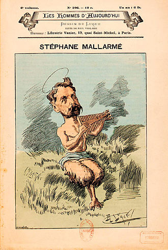 1887 in poetry - Caricature of the French poet Stéphane Mallarmé