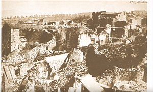 1857 Basilicata earthquake - Damage to the village of Pertosa, a photograph by Alphonse Bernoud