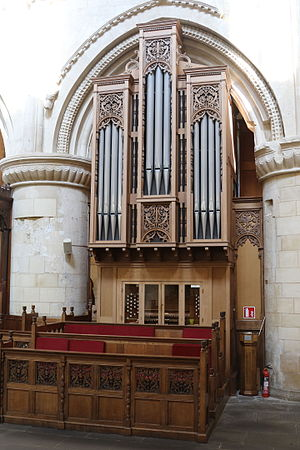 Malmesbury Abbey - The current organ dating from 1984