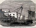 Malta; view of the Naval dockyard with heavy lifting gear ne Wellcome V0024557.jpg