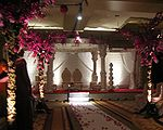 A mandap from a modern wedding