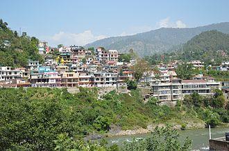 Mandi district - The Mandi town.