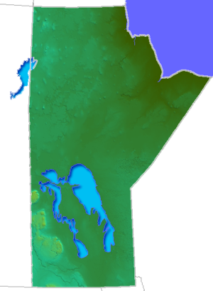 Geography of Manitoba - Relief of Manitoba