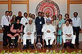 Manmohan Singh with the Awardee Teachers ahead of Teachers' Day, in New Delhi. The Union Minister for Human Resource Development, Dr. M.M. Pallam Raju and the Ministers of State for Human Resource Development (9).jpg