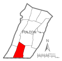 Location of Bethel Township in Fulton County