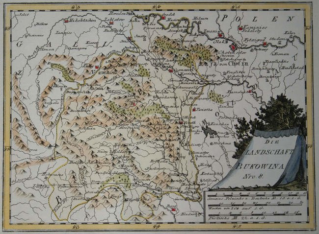 Map of Bukovina in 1791 by Reilly 008