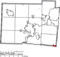 Map of Butler County Ohio Highlighting Sharonville City.png