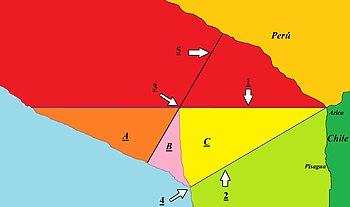 Map of Chilean–Peruvian maritime dispute.JPG