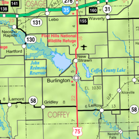 Map of Coffey Co, Ks, USA.png