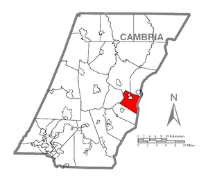 Cresson Township, Cambria County, Pennsylvania - Image: Map of Cresson Township, Cambria County, Pennsylvania Highlighted