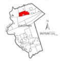 Map of Dauphin County, Pennsylvania Highlighting Washington Township.PNG