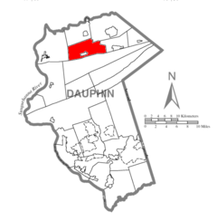 Map of Dauphin County, Pennsylvania Highlighting Washington Township.PNG