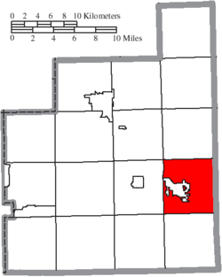 Location of Middlefield Township in Geauga County