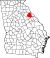 Map of Georgia highlighting Wilkes County.svg