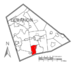 Map of Lebanon County, Pennsylvania Highlighting West CornwallTownship.PNG