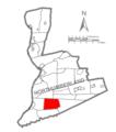 Map of Northumberland County Pennsylvania Highlighting Washington Township.PNG