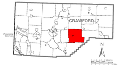 Map of Randolph Township, Crawford County, Pennsylvania Highlighted.png