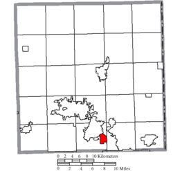 Location of McDonald in Trumbull County
