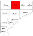 Map of Warren County Indiana highlighting Pine Township.png