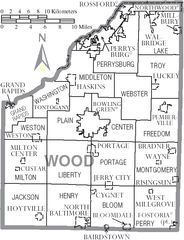 File:Map of Wood County Ohio With Municipal and Township Labels