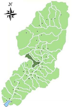 Cerveno - Image: Map of comune of Cerveno in Val Camonica (LG)