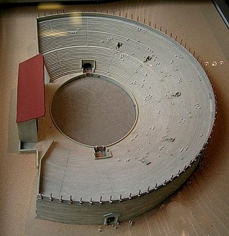 "Lutetia - Model of the ""arènes de Lutèce"""