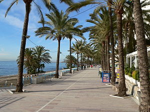 Sea side of Marbella
