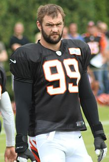 Margus Hunt 2014 Bengals training camp Cropped.jpg