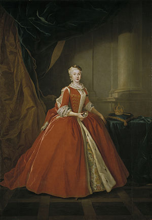 Louis de Silvestre - Maria Amalia of Saxony, wife of Charles III of Spain, depicted in Polish attire, 1738 Museo del Prado