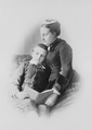 Marie, Princess George of Saxony and her youngest son, Prince Albert (1883).png