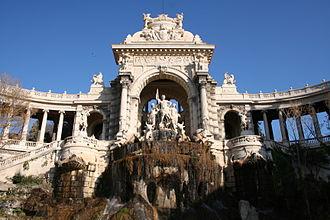 Palais Longchamp - The chateau d'eau in the Parc Longchamp