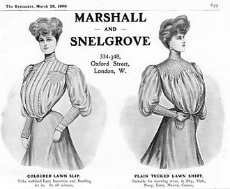 Marshall & Snelgrove -  Illustration from 1905 Oxford Street store catalogue