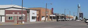 Martin, South Dakota - Downtown Martin: Main Street, looking northeast from 4th Avenue