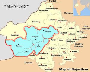 Marwar - Marwar region is the areas near Jodhpur.