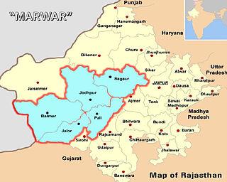 Marwar Region in Rajasthan, India