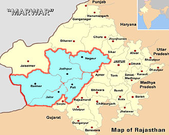 Marwar - Marwar region is the areas near Jodhpur.